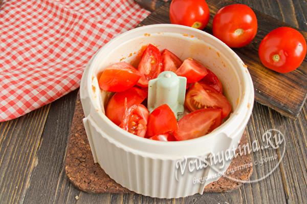 измельчить помидоры