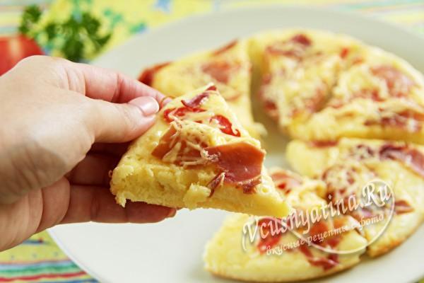 рецепт пиццы на сковороде за 10 мин без сметаны