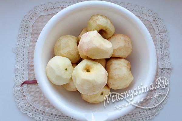 очистить яблоки от кожур