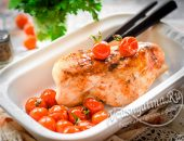 Очень сочная и вкусная куриная грудка в духовке