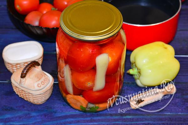 помидоры по-грузински на зиму готовы