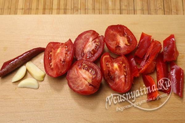 подготовить овощи для блендера