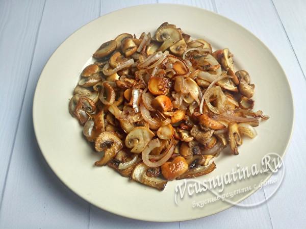 готовые жареные грибы