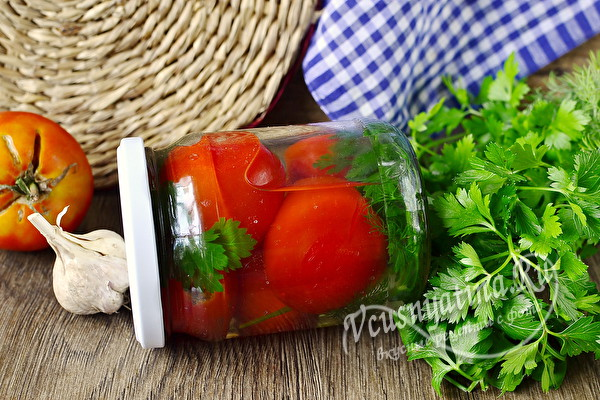 Сладкие помидоры с очень вкусным рассолом на зиму