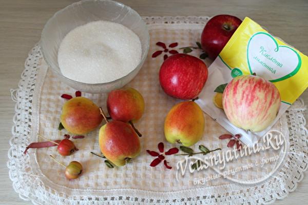 яблоки и груши для компота