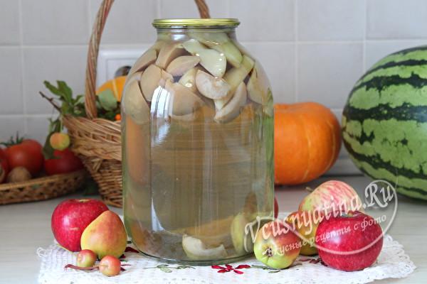 яблочно грушевый компот