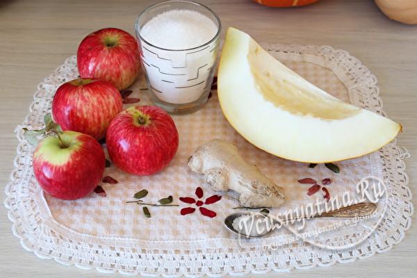 дыня и яблоки для компота