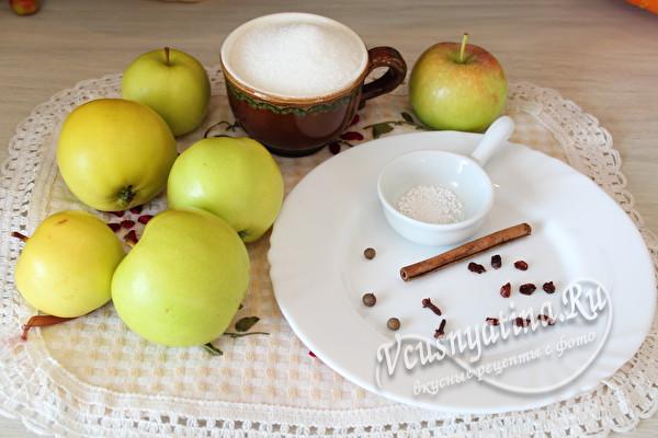 яблоки и специи для компота
