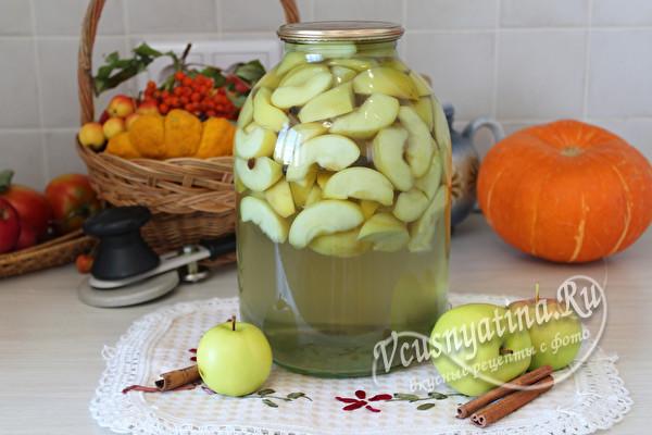 яблочный компот со специями
