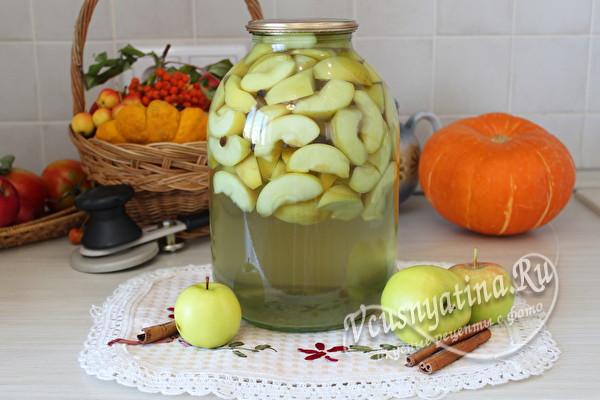 компот из яблок со специями