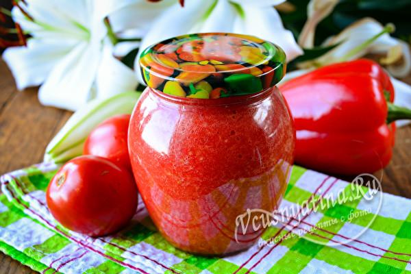 Аджика из помидор не варить пошаговые