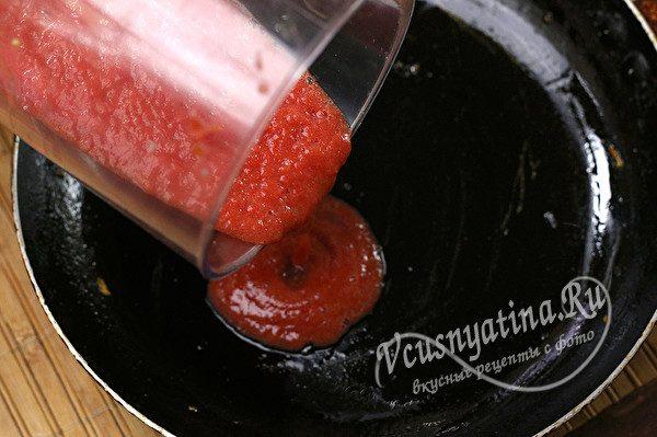 обжарка пюре из томатов