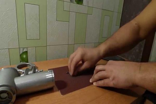 3 способа заточки ножа от мясорубки в домашних условиях
