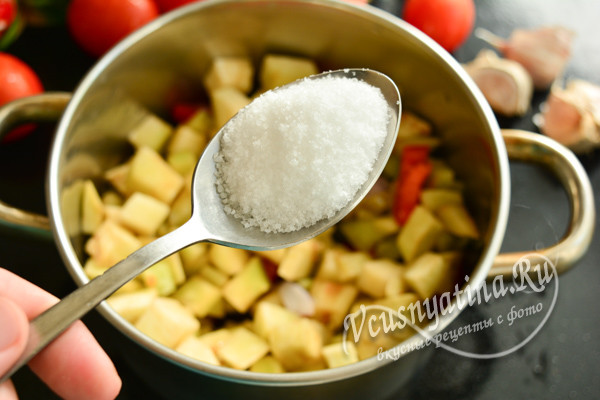 добавить соль, сахар