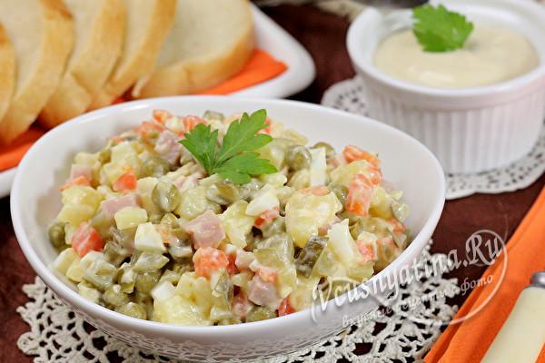 """вкусный зимний салат """"Оливье"""""""