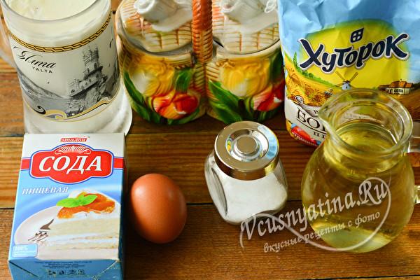 ингредиенты на тесто