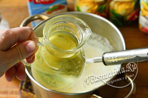 добавляем масло