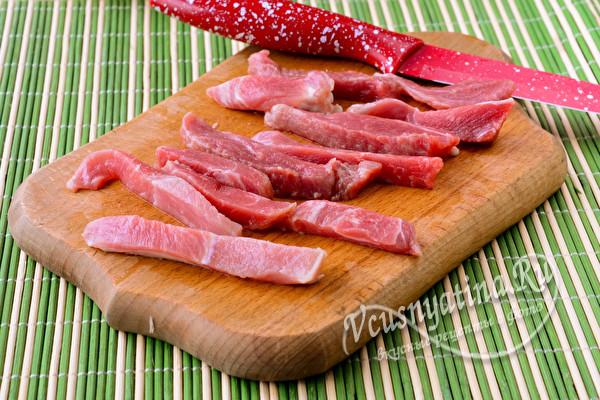бруски мяса