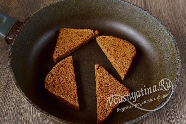 подсушить хлеб