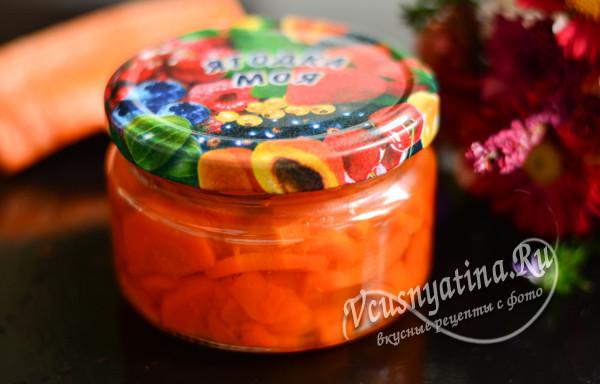 морковное варенье готово