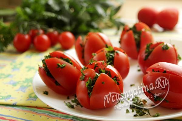 наполнить начинкой помидоры