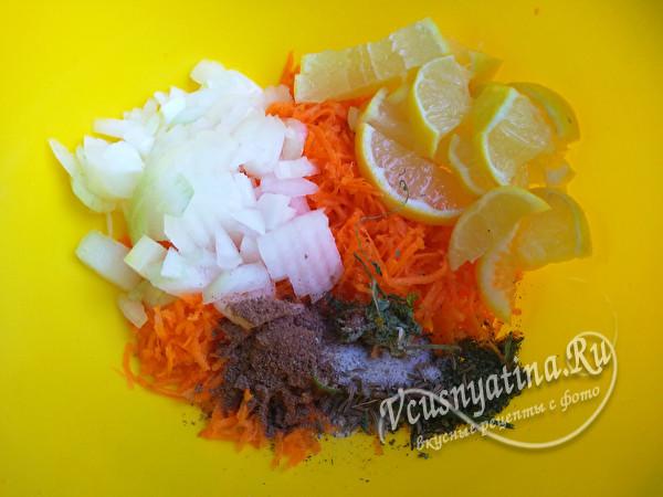 овощи к рыбе