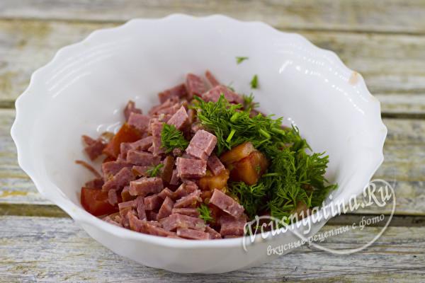 мясо и зелень