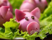 новогодняя закуска Гламурные свинки