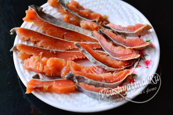 вкусная соленая рыба