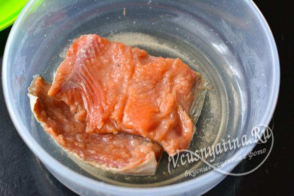 готовая соленая рыба