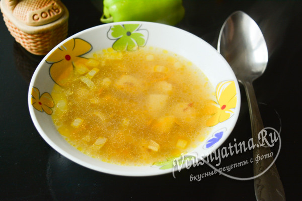 Гречневый суп с курицей