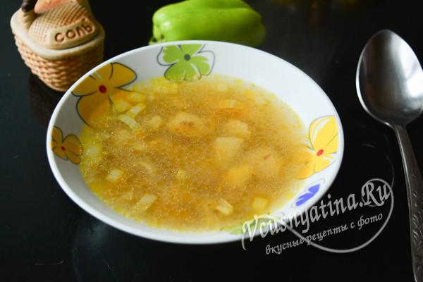 суп с гречкой и курицей