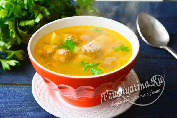 готовый суп с гречкой