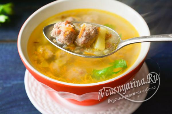суп с крупой