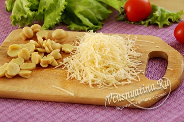 сыр и грибы