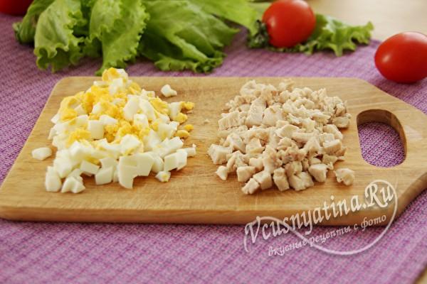 филе и яйца