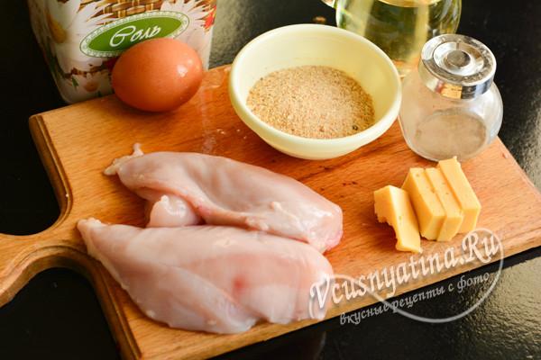 продукты для блюда из курицы