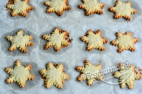 """печенье """"Снежинки"""" готово"""