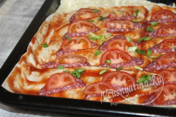 разложить помидоры