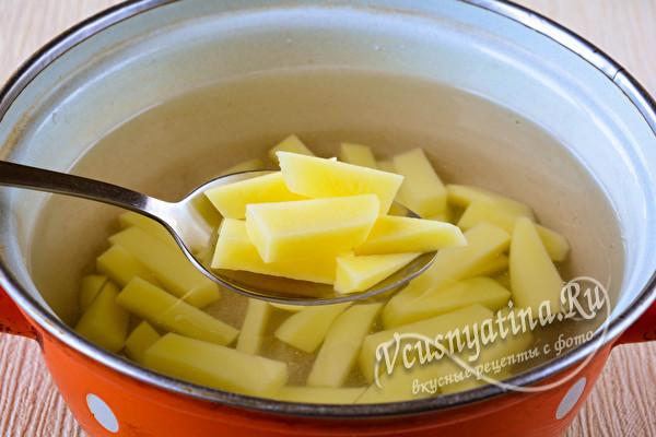 бруски картофеля