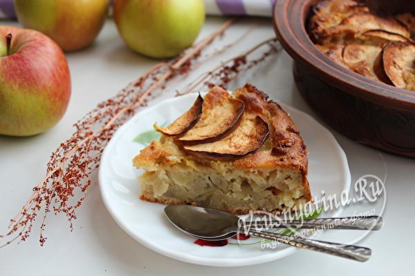 яблочный пирог к чаю