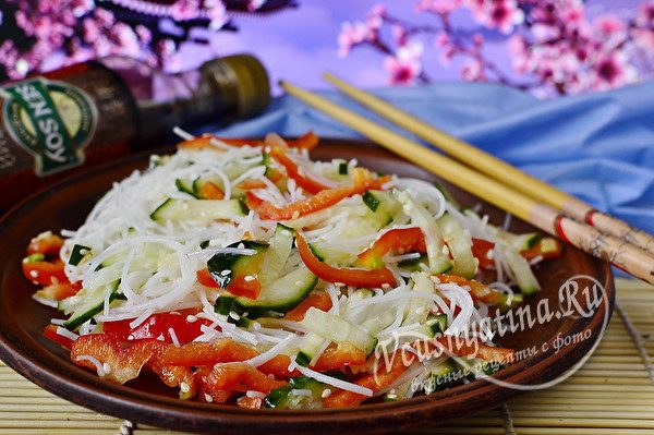 овощной салат из фунчозы