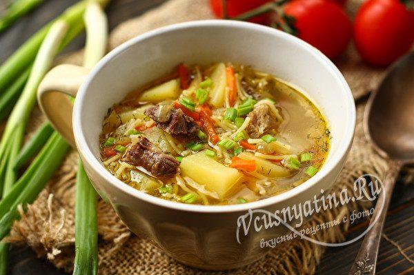 говяжий суп с картошкой