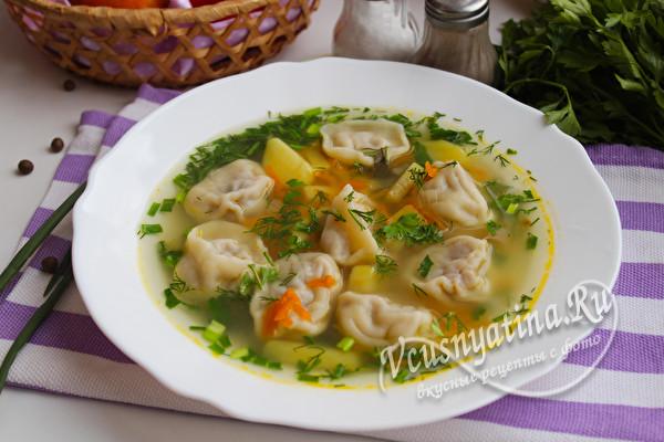 Как приготовить суп с пельменями и картошкой