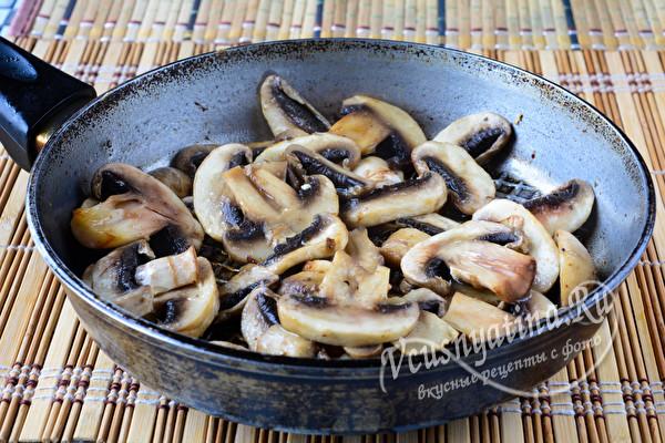 обжарим грибы