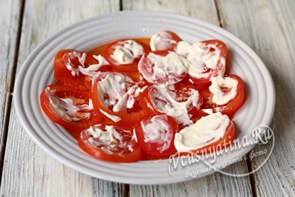 намазать помидоры