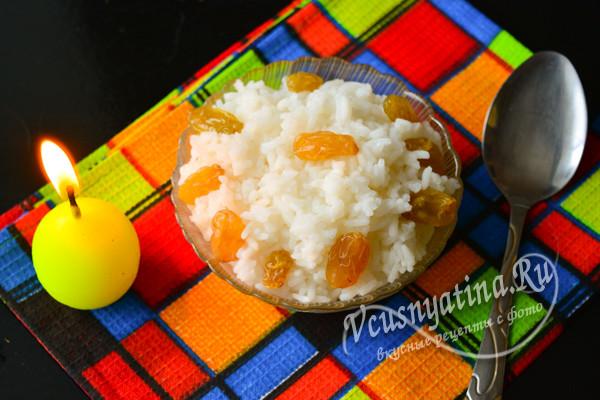 кутья из риса с медом и изюмом