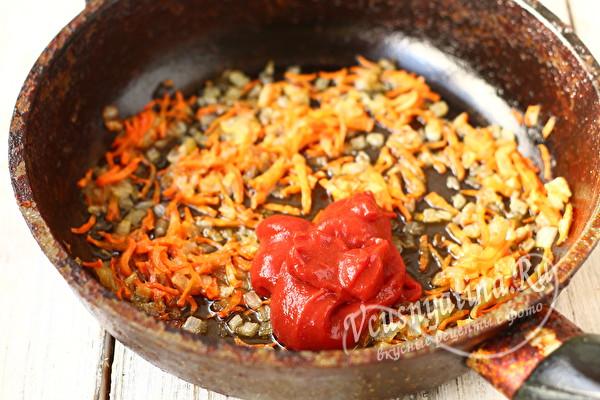 обжарить овощи с пастой