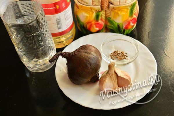 ингредиенты для свеклы по-корейски