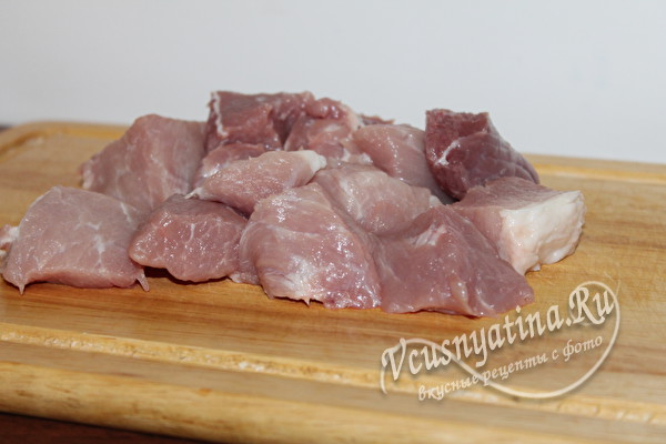 нарезанная свинина